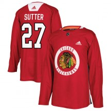 Darryl Sutter Chicago Blackhawks Adidas Youth Authentic Home Practice Jersey - Red