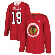 Dale Tallon Chicago Blackhawks Adidas Youth Authentic Home Practice Jersey - Red