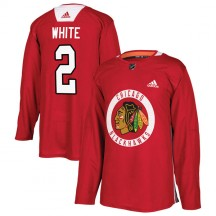 Bill White Chicago Blackhawks Adidas Youth Authentic Red Home Practice Jersey - White