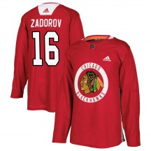 Nikita Zadorov Chicago Blackhawks Adidas Youth Authentic Home Practice Jersey - Red