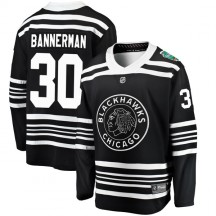 Murray Bannerman Chicago Blackhawks Fanatics Branded Youth 2019 Winter Classic Breakaway Jersey - Black