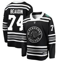 Nicolas Beaudin Chicago Blackhawks Fanatics Branded Youth ized 2019 Winter Classic Breakaway Jersey - Black