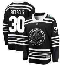 ED Belfour Chicago Blackhawks Fanatics Branded Youth 2019 Winter Classic Breakaway Jersey - Black