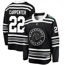 Ryan Carpenter Chicago Blackhawks Fanatics Branded Youth 2019 Winter Classic Breakaway Jersey - Black
