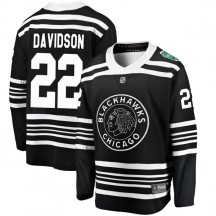 Brandon Davidson Chicago Blackhawks Fanatics Branded Youth 2019 Winter Classic Breakaway Jersey - Black