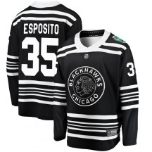 Tony Esposito Chicago Blackhawks Fanatics Branded Youth 2019 Winter Classic Breakaway Jersey - Black