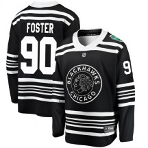 Scott Foster Chicago Blackhawks Fanatics Branded Youth 2019 Winter Classic Breakaway Jersey - Black