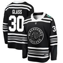 Jeff Glass Chicago Blackhawks Fanatics Branded Youth 2019 Winter Classic Breakaway Jersey - Black