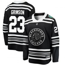 Stu Grimson Chicago Blackhawks Fanatics Branded Youth 2019 Winter Classic Breakaway Jersey - Black