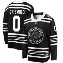 Clark Griswold Chicago Blackhawks Fanatics Branded Youth 2019 Winter Classic Breakaway Jersey - Black