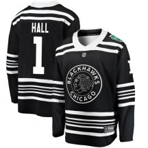 Glenn Hall Chicago Blackhawks Fanatics Branded Youth 2019 Winter Classic Breakaway Jersey - Black