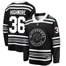 Matthew Highmore Chicago Blackhawks Fanatics Branded Youth 2019 Winter Classic Breakaway Jersey - Black