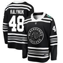 Wyatt Kalynuk Chicago Blackhawks Fanatics Branded Youth 2019 Winter Classic Breakaway Jersey - Black