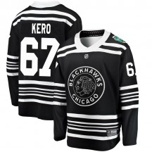 Tanner Kero Chicago Blackhawks Fanatics Branded Youth 2019 Winter Classic Breakaway Jersey - Black