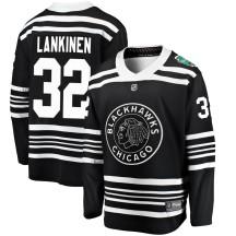Kevin Lankinen Chicago Blackhawks Fanatics Branded Youth 2019 Winter Classic Breakaway Jersey - Black