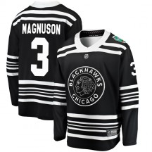 Keith Magnuson Chicago Blackhawks Fanatics Branded Youth 2019 Winter Classic Breakaway Jersey - Black