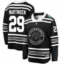 Andreas Martinsen Chicago Blackhawks Fanatics Branded Youth 2019 Winter Classic Breakaway Jersey - Black