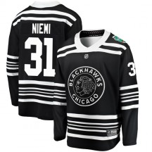 Antti Niemi Chicago Blackhawks Fanatics Branded Youth 2019 Winter Classic Breakaway Jersey - Black