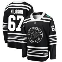 Jacob Nilsson Chicago Blackhawks Fanatics Branded Youth 2019 Winter Classic Breakaway Jersey - Black