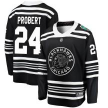Bob Probert Chicago Blackhawks Fanatics Branded Youth 2019 Winter Classic Breakaway Jersey - Black