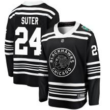 Pius Suter Chicago Blackhawks Fanatics Branded Youth 2019 Winter Classic Breakaway Jersey - Black