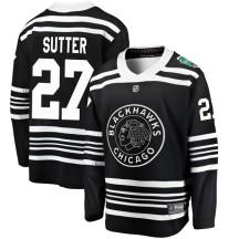 Darryl Sutter Chicago Blackhawks Fanatics Branded Youth 2019 Winter Classic Breakaway Jersey - Black