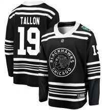 Dale Tallon Chicago Blackhawks Fanatics Branded Youth 2019 Winter Classic Breakaway Jersey - Black
