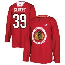 Dennis Gilbert Chicago Blackhawks Adidas Men's Authentic Home Practice Jersey - Red