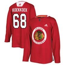 Slater Koekkoek Chicago Blackhawks Adidas Men's Authentic Home Practice Jersey - Red