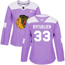 Dustin Byfuglien Chicago Blackhawks Adidas Women's Authentic Fights Cancer Practice Jersey - Purple