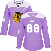 Patrick Kane Chicago Blackhawks Adidas Women's Authentic Fights Cancer Practice Jersey - Purple