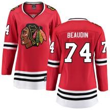Nicolas Beaudin Chicago Blackhawks Fanatics Branded Women's ized Breakaway Home Jersey - Red