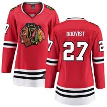 Adam Boqvist Chicago Blackhawks Fanatics Branded Women's Breakaway Home Jersey - Red