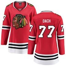 Kirby Dach Chicago Blackhawks Fanatics Branded Women's Breakaway Home Jersey - Red