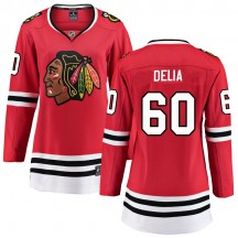Collin Delia Chicago Blackhawks Fanatics Branded Women's Breakaway Home Jersey - Red
