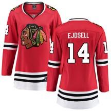 Victor Ejdsell Chicago Blackhawks Fanatics Branded Women's Breakaway Home Jersey - Red