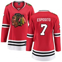 Phil Esposito Chicago Blackhawks Fanatics Branded Women's Breakaway Home Jersey - Red