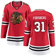 Anton Forsberg Chicago Blackhawks Fanatics Branded Women's Breakaway Home Jersey - Red