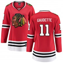 Adam Gaudette Chicago Blackhawks Fanatics Branded Women's Breakaway Home Jersey - Red