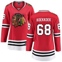 Slater Koekkoek Chicago Blackhawks Fanatics Branded Women's Breakaway Home Jersey - Red