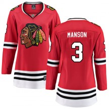 Dave Manson Chicago Blackhawks Fanatics Branded Women's Breakaway Home Jersey - Red