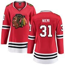 Antti Niemi Chicago Blackhawks Fanatics Branded Women's Breakaway Home Jersey - Red