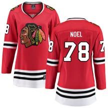 Nathan Noel Chicago Blackhawks Fanatics Branded Women's Breakaway Home Jersey - Red