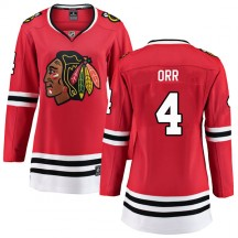 Bobby Orr Chicago Blackhawks Fanatics Branded Women's Breakaway Home Jersey - Red