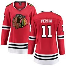 Brendan Perlini Chicago Blackhawks Fanatics Branded Women's Breakaway Home Jersey - Red