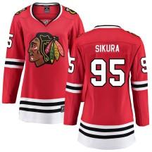 Dylan Sikura Chicago Blackhawks Fanatics Branded Women's Breakaway Home Jersey - Red