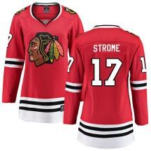 Dylan Strome Chicago Blackhawks Fanatics Branded Women's Breakaway Home Jersey - Red