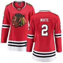 Bill White Chicago Blackhawks Fanatics Branded Women's Breakaway Red Home Jersey - White
