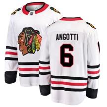 Lou Angotti Chicago Blackhawks Fanatics Branded Youth Breakaway Away Jersey - White