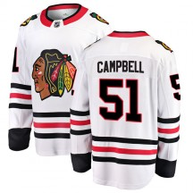 Brian Campbell Chicago Blackhawks Fanatics Branded Youth Breakaway Away Jersey - White